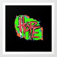 Hope (retro Neon 80's St… Art Print