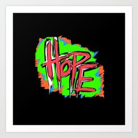 Hope (retro Neon 80's St… Art Print