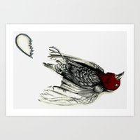 Love Bird Broken Art Print