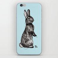 Blue Woodland Creatures - Rabbit iPhone & iPod Skin