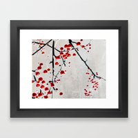 Red Splash Framed Art Print