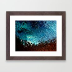 Abstract blue, white and purple painting photography Framed Art Print