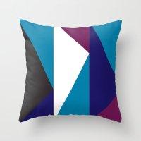 Blue Purple Triangle Pat… Throw Pillow