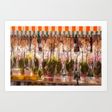 Flower market in Nice 5915 Art Print