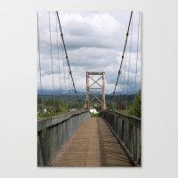 Across the Bridge and Beyond Canvas Print