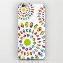 Rainbow flowers iPhone & iPod Skin