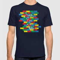 Brick in the Wall Mens Fitted Tee Navy SMALL
