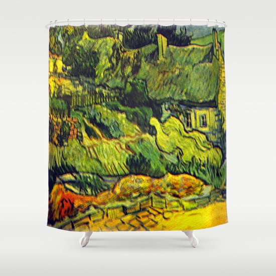 Kitchen Window Uptown Coffee Festival 2016: Les Chaumes (Thatched Cottage) Shower Curtain By Chris