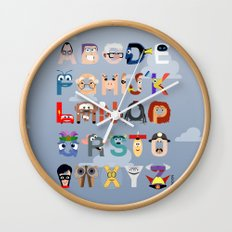 P is for Pixar (Pixar Alphabet) Wall Clock