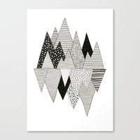 Lost In Mountains Canvas Print
