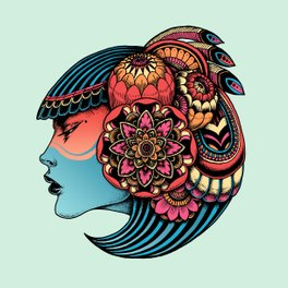 Art Print - Native girl - Iain Macarthur