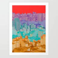 Fragmented Worlds II III Art Print