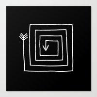 Square Arrow Canvas Print