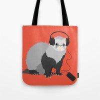 Music Loving Ferret Tote Bag
