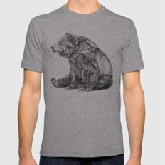 Bear // Graphite Mens Fitted Tee Athletic Grey SMALL