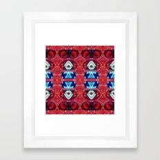 Red Riot Roof Framed Art Print
