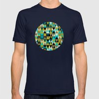 Triangles I Mens Fitted Tee Navy SMALL
