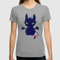 Night Fury Womens Fitted Tee Tri-Grey SMALL
