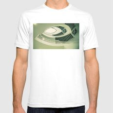 teardrop stairs SMALL White Mens Fitted Tee
