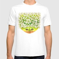 Majestic Leaf Mens Fitted Tee White SMALL