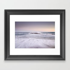 the force of the sea Framed Art Print