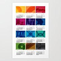 2013 Pigment to Pantone Calendar Art Print