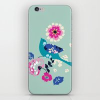 Birds And Blooms 3 iPhone & iPod Skin