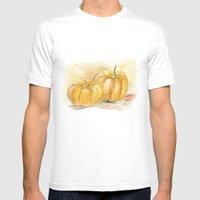 Mini Pumpkins II Mens Fitted Tee White SMALL