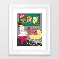 Childhood Obesity Framed Art Print