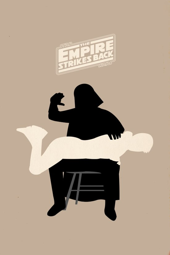 Empire strikes back Art Print