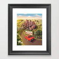 Welcome to Atlanta Framed Art Print