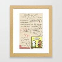 Antics #279 - the simplest task Framed Art Print
