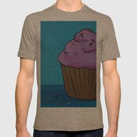 Cupcake Mens Fitted Tee Tri-Coffee SMALL