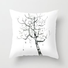 button tree Throw Pillow