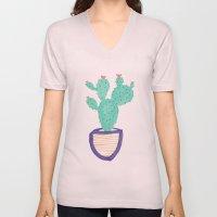 Cactus Illustration Unisex V-Neck