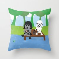 SW Kids - Darth Fishing Throw Pillow