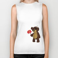 Sweet Teddy Biker Tank