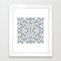 PS Grid 45 Sky Blue Framed Art Print