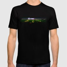 mr signature glitch huge SMALL Black Mens Fitted Tee