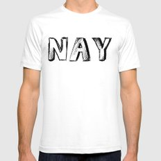NAY Mens Fitted Tee SMALL White