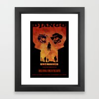 Django Unchained Alternate Movie Poster Framed Art Print