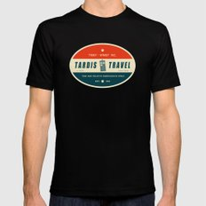Tardis Travel - Fantasy Travel Logo Mens Fitted Tee Black SMALL