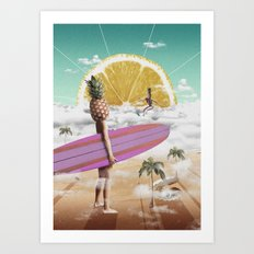 Sweet Surfing Art Print