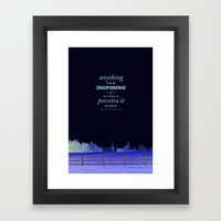 Inspirational pieces Framed Art Print