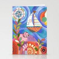 Summer Harbor Stationery Cards