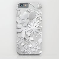 iPhone Cases featuring Elegant White by Million Dollar Design