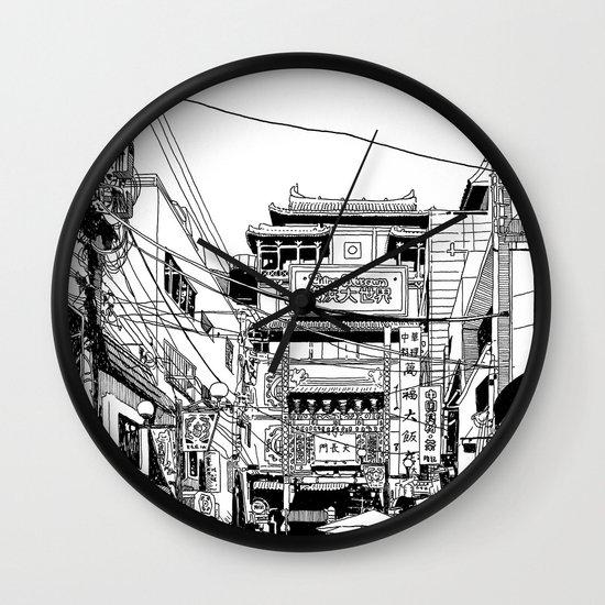 Yokohama - China town Wall Clock