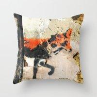 Sneaky Little Fox Throw Pillow