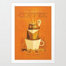 The Coffee Godess Art Print