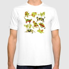 Kitchen Cats White Mens Fitted Tee SMALL